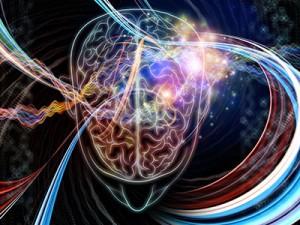 neurons firing in brain
